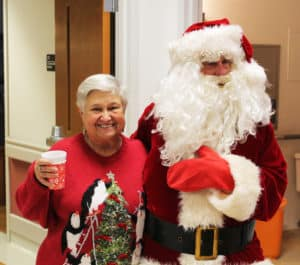 Elaine Wood and Santa