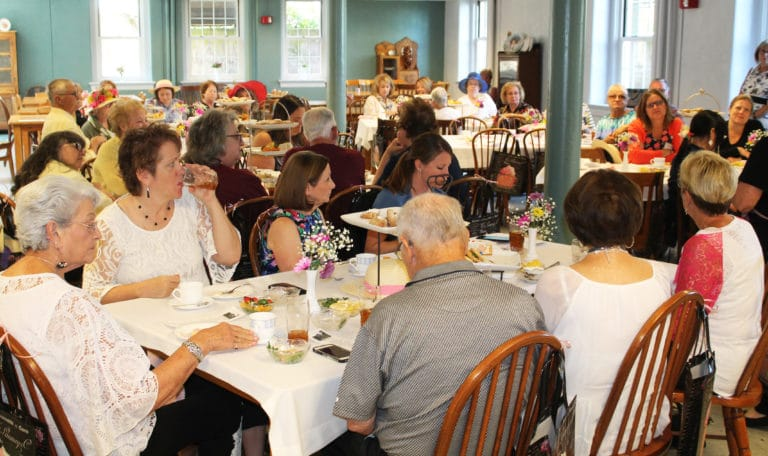 Participants filled much of the dining room in the Retreat Center for the lunchtime event.