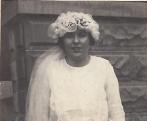 Rosamond Margaret Brohm on the day of her entrance into the novitiate in 1923 and became Sister Mary Victoria.